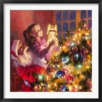 Framed Santa Little Angel Bright