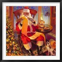 Framed Santa Christmas List