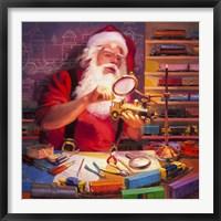 Framed Santa the Train Master