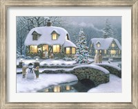 Framed Christmas Eve At Holbrook Cottage