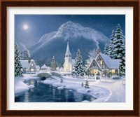 Framed Christmas Village