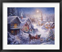 Framed In A One Horse Open Sleigh