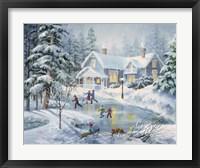 Framed Fine Winter's Eve