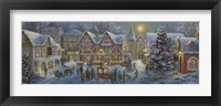 Framed Christmas Village Panoramic