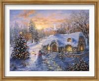 Framed Christmas Cottage 1