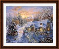 Framed Christmas Cottage 1