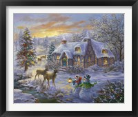 Framed Christmas Cottage 2