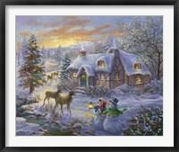 Framed Christmas Cottage 2