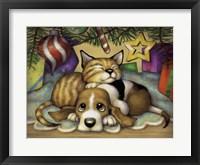 Framed Kitten Pup