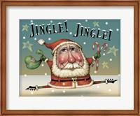 Framed Santa On The Run