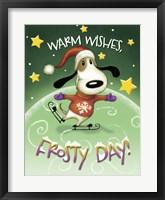Dog Skater Framed Print