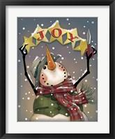 Framed Snowman Stars