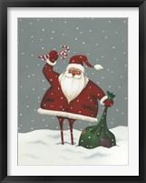 Framed Santa's Bag of Toys