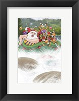 White Water Rafting Framed Print