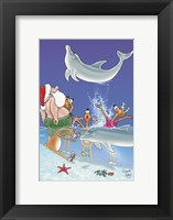Framed Santa and the Dolphins