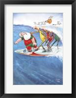 Framed Surfin' Santa