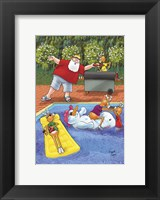 Framed Floaty Snowman