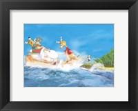 Framed Santa Waterski