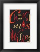 Framed Christmas Text Black