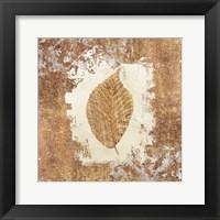 Framed Gilded Leaf II