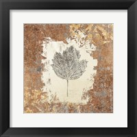 Framed Gilded Leaf V