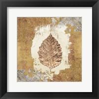 Framed Gilded Leaf VI