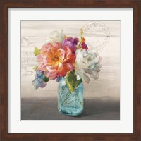 Framed French Cottage Bouquet I