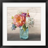 French Cottage Bouquet I Framed Print