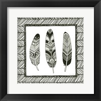 Framed Geo Feathers Square II