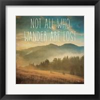 Wander II Framed Print
