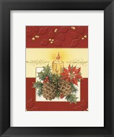 Framed Acorn and Holiday Candle