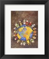 Framed Holiday Children Around The World