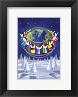 Framed Holiday Angels Around the World