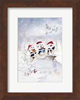 Framed Penguin Christmas Carol