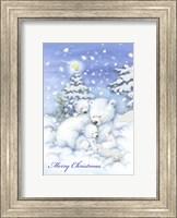 Framed Merry Christmas Polar Bears
