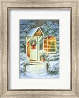 Framed Snowy Winter Christmas Open Home