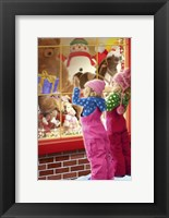 Framed Christmas Toy Window Shopping