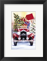 Framed Christmas Tree Classic Car Ride II