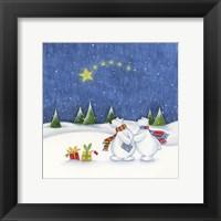 Framed Bear Couple Holiday Snow Date