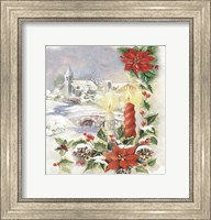 Framed Holiday Candles With Pointsettia
