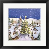 Framed Village Christmas Tree Meet