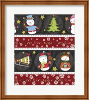 Framed Snowman Knit