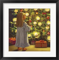 Framed Little One and Bear Christmas Tree Look