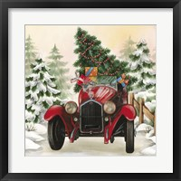 Framed Christmas Tree Classic Car Ride I