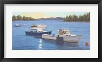 Framed Morning on the Harbor