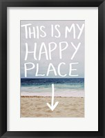 Framed This Is My Happy Place (Beach)