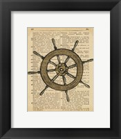 Nautical Series - Ship Wheel Framed Print