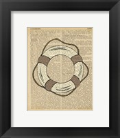 Framed Nautical Series - Life Preserver