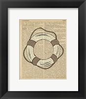 Nautical Series - Life Preserver Framed Print