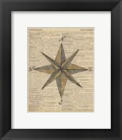 Nautical Series - Nautical Star Framed Print